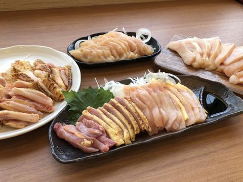 おうちでグルメ☆鶏刺し専門店の味!大摩桜 鶏刺し レギュラー8Pセット【鶏刺し4種×2P さしみ醤油付き】(冷凍)