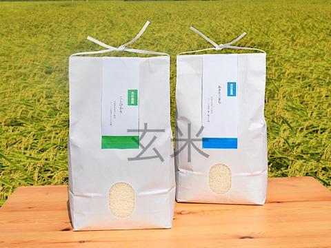 【数量限定】茨城県産新米こしひかり、あきたこまち食べ比べセット(各1kg)(玄米)