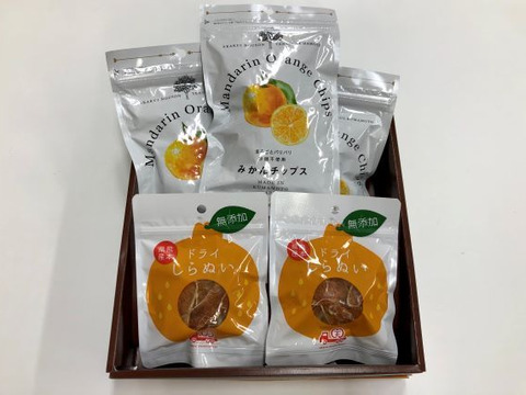 柑橘ドライフルーツセット【5袋入り】 熨斗付き
