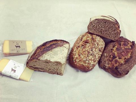 北海道十勝から自然に寄り添ったパンをお届け!風土火水(ふうどかすい)BOX(D) 【オーガニックパン・チーズセット】
