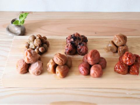【母の日ギフト】最高級紀州南高梅7種類食べ比べセット
