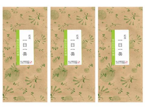 2021新茶[メール便] 煎茶「一日一茶」(100g×3袋) 毎日のお茶習慣に / 狭山茶