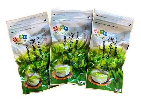 【レターパック便】簡単便利!深蒸し茶ティーパック(5g×20個) 3袋
