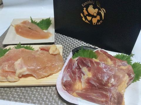 «ギフト»レシピ付き♪比内地鶏の正肉1羽分セット/真空冷凍【熨斗付】