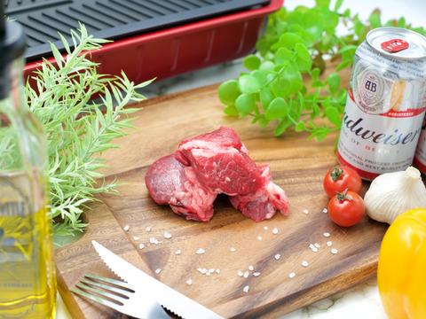 鹿児島大学共同研究!和牛赤身肉ぶつ切り肉500g(煮込み用)自家産飼料のみのグラスフェッドビーフ♪