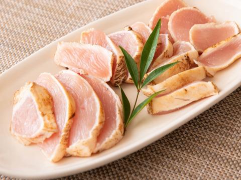 紅玉の名鶏 丹波赤どり むね肉 (1kg小分け) 肉厚でしっとり柔らかさ
