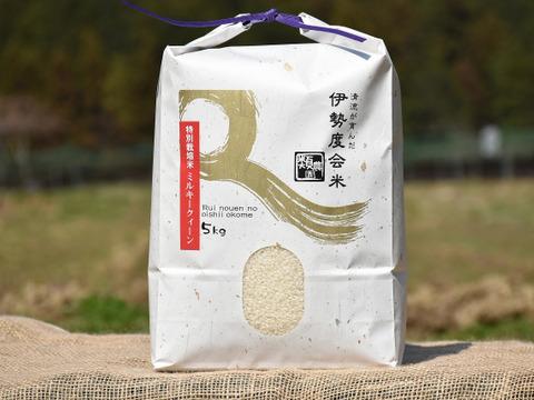 【新米!】特別栽培米ミルキークィーン5kg☆ほんのり甘みとモチモチ食感☆冷めても美味しい☆おにぎり・お弁当にピッタリ♪