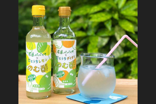パパイヤのむ酢*6本セット「せとうちレモン&ダイダイ」