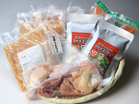 【贈り物に】青森シャモロック地鶏鍋セット(4人前)【熨斗付き対応可能】