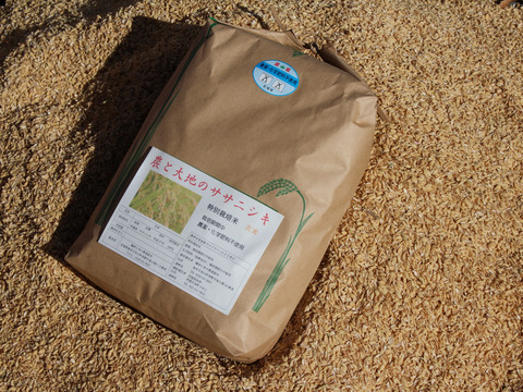 玄米5kg(農薬・化学肥料不使用)と平飼い卵30個のセット
