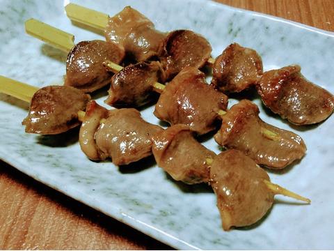 比内地鶏の砂肝の串3本×2セット/真空冷凍【コリコリ歯ごたえ】