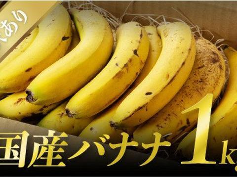 皮まで食べても安心!宮崎産無農薬バナナお徳用(訳有り)1kgとバームクーヘンのセット