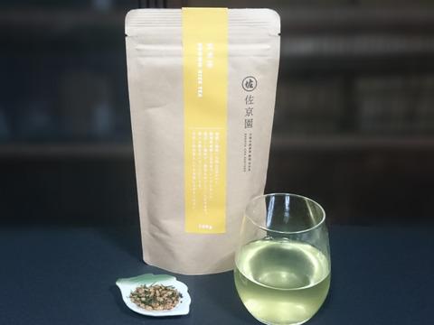 【全国一律送料 ポストにお届け 新茶100%】〈3袋セット!〉熱湯でも美味!抹茶不使用。ちゃんと緑茶の玄米茶 100g ×3袋 農カード付!