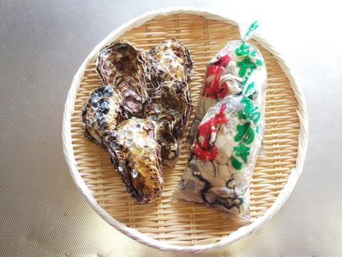 🌸春が旬🌸【加熱用】殻付き牡蠣5ヶ+【生食用】むき身300g×2袋