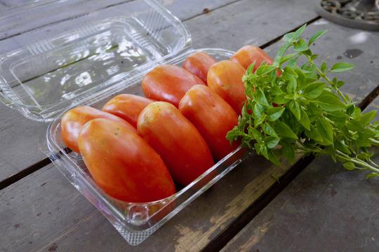 【一流シェフが認めた!】サンマルツァーノトマト(750g)&ブッシュバジル(30g)