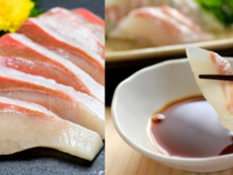 【食べ比べ】獅子島産真鯛&ブリのお刺身セット