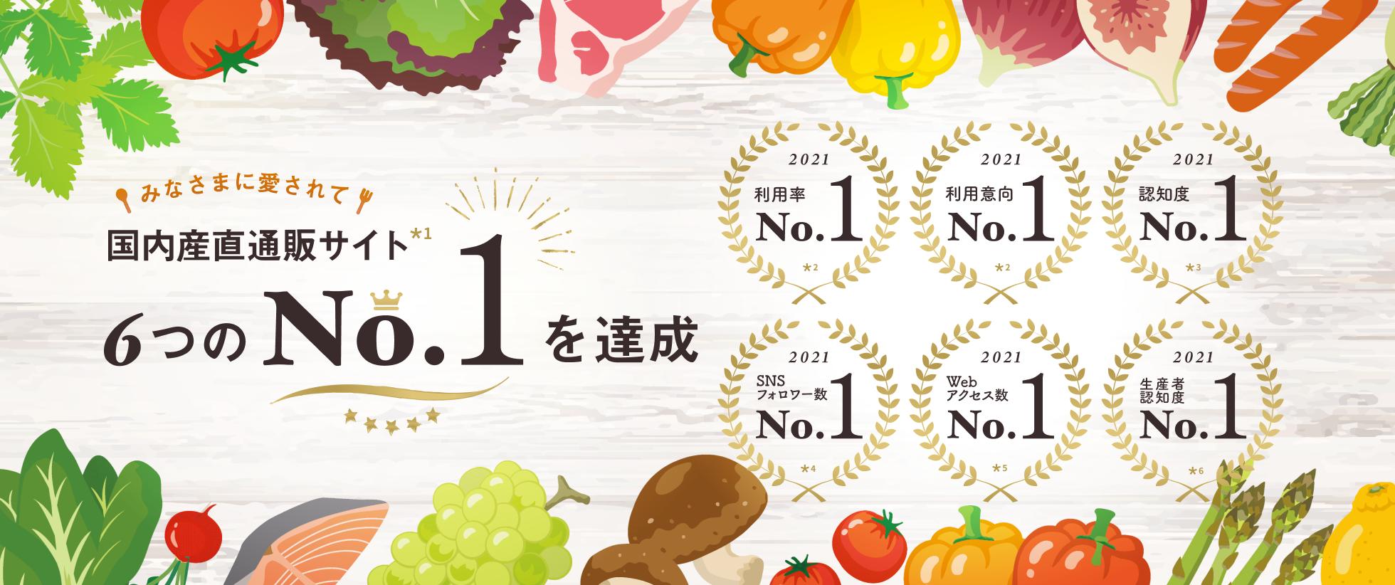 食べチョクはNo.1産直通販サイト