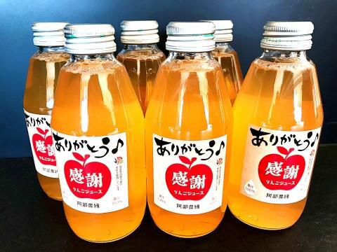ありがとうを贈る!感謝りんごジュース【福島県産りんご果汁100%】6本セット