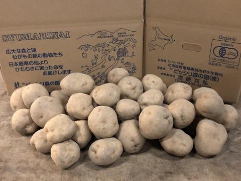 「予約受付中」ホクホク、旨みたっぷり!有機栽培ジャガイモ 男爵10kg
