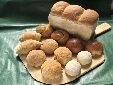 【超貴重な有機JAS認証パン】パンセット⑰:麦の栽培から一貫生産 自然栽培小麦のみ使用したソフト系パンセット