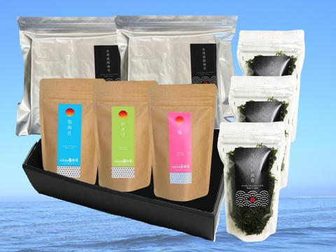 【ギフト商品】高級焼き海苔50枚/上級焼き海苔50枚/バラ干海苔3袋/味付け海苔3種