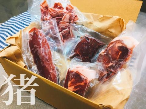 福岡産【猪肉】各部位食べ比べセット600g(3~5品)