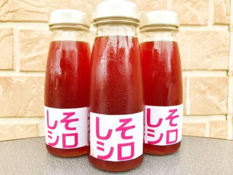 ちょっぴり塩味【農家の手作り梅じそシロップ6本セット】炭酸や焼酎に 赤紫蘇・赤しそジュース