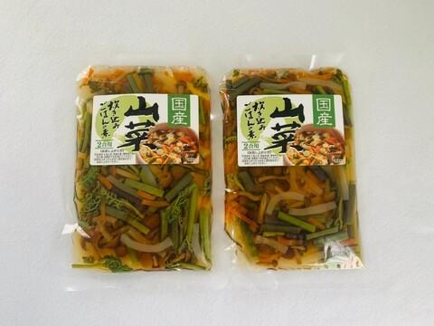 まとめ買い対応‼【山形県産 美味しい山菜炊き込みご飯の素】2合用 2袋セット