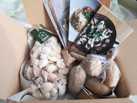 オーガニック ニンニク(バラ 1キロ)、美味しいジャガイモのお試し付き
