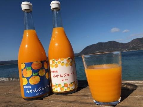【無添加】みかんジュース6本 果汁100% (720ml/本)