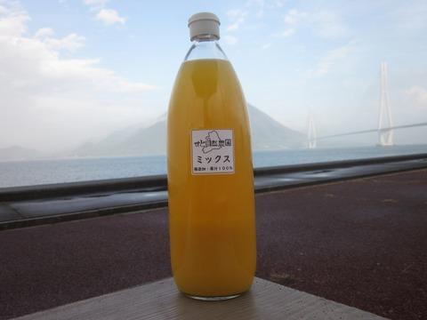 瀬戸内よりお届け!柑橘ミックスジュース(温州みかん×ポンカン)1.000mℓ×6本【無添加・果汁100%】