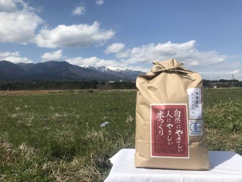 さらっと!体に優しい有機JAS米(転換期間中)《玄米》10キロ