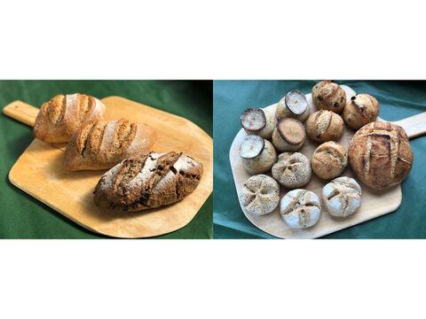 【超貴重な有機JAS認証パン】パンセット②+⑭:麦の栽培から一貫生産 自然栽培小麦のみ使用したドイツ風パンセット2 + ハード系パンセット