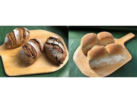 【超貴重な有機JAS認証パン】パンセット①+⑩:麦の栽培から一貫生産 自然栽培小麦のみ使用したドイツ風パンセット1 + 有機JAS対応パンドミー2個