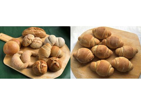 【超貴重な有機JAS認証パン】パンセット④+⑥:麦の栽培から一貫生産 自然栽培小麦のみ使用したパンセット+自然栽培小麦のみ使用したテーブルロール×8