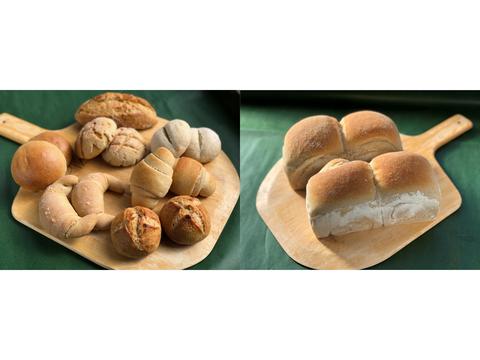 【超貴重な有機JAS認証パン】パンセット④+⑩:麦の栽培から一貫生産 自然栽培小麦のみ使用したパンセット + 有機JAS対応パンドミー2個