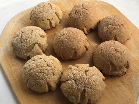 【超貴重な有機JAS認証パン】パンセット⑦:麦の栽培から一貫生産 自然栽培小麦のみ使用したメロンパン2種×4個ずつ