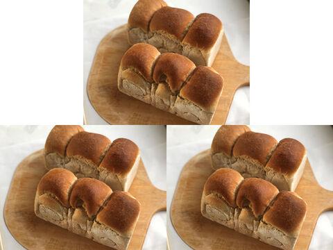 【超貴重な有機JAS認証パン】パンセット⑨×3:麦の栽培から一貫生産 自然栽培小麦のみ使用した有機JAS対応食パン2個 × 3