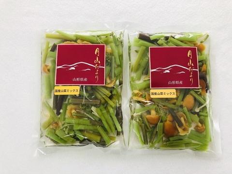 【山形県産 美味しい山菜   山菜ミックス水煮】100gx2 2袋セット