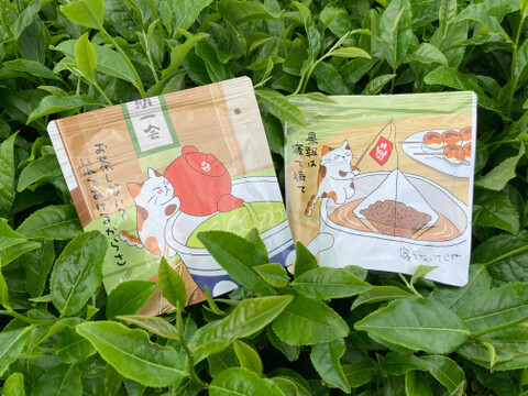 【まとめ買い対応】高級煎茶ティーバッグ&和紅茶ティーバッグのセット(ホワイトデー・プチギフトなどに) / 狭山茶
