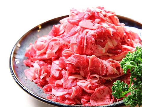 【数量限定】九州産 黒毛和牛 切り落とし 1.2kg (600g×2パック)