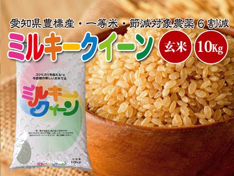 【節減対象農薬6割減・一等米】ミルキークイーン 玄米10g【令和2年・愛知県産】