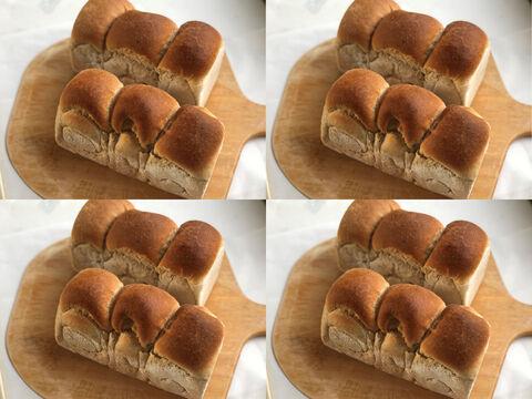 【超貴重な有機JAS認証パン】パンセット⑨×4:麦の栽培から一貫生産 自然栽培小麦のみ使用した有機JAS対応食パン2個 × 4