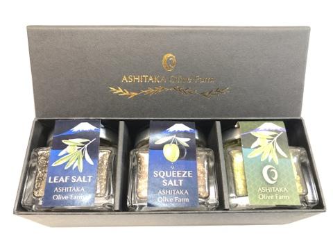 オリーブの塩と砂糖3種類_ギフト用【折箱付き】
