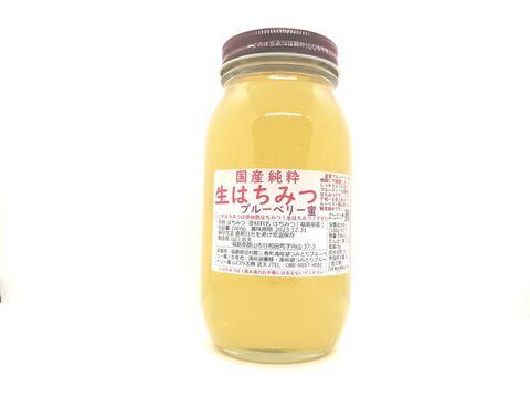 【数量限定】フルーティーな味わい!国産純粋生はちみつ【ブルーベリー蜜】1000g
