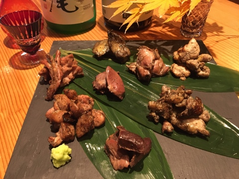 【夜市限定商品】とっておきの希少部位7種類の炙り焼き鳥