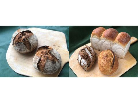 【超貴重な有機JAS認証パン】パンセット⑤+パンBOX:麦の栽培から一貫生産 自然栽培小麦のみ使用したフランス田舎パン+基本のパンBOX