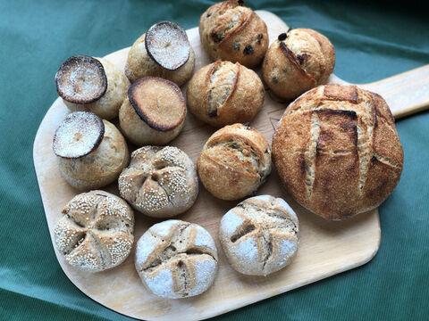 【超貴重な有機JAS認証パン】パンセット⑭:麦の栽培から一貫生産 自然栽培小麦のみ使用したハード系パンセット