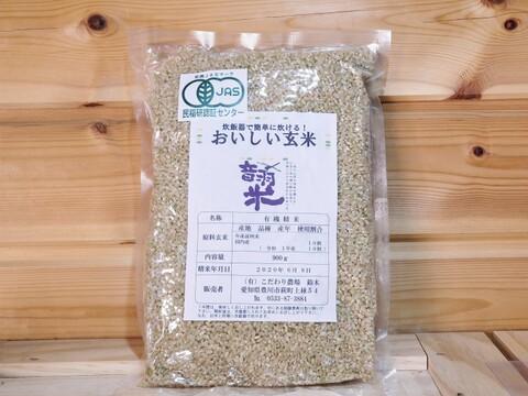 令和2年産おいしい玄米 900g  有機無農薬JAS