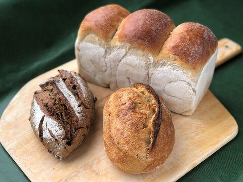 【初回限定BOX】【超貴重な有機JAS認証パン】パンBOX:麦の栽培から一貫生産 自然栽培小麦のみ使用した基本のパンBOX